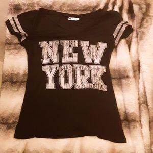 Black NEW YORK tee-S/M